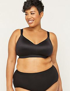 New! Solid Full-Coverage Smooth No-Wire Bra
