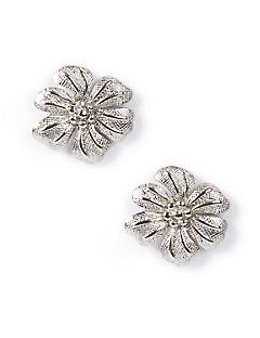 Pendant Flower Post Earrings