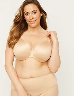 Solid Full-Coverage Smooth Underwire Bra