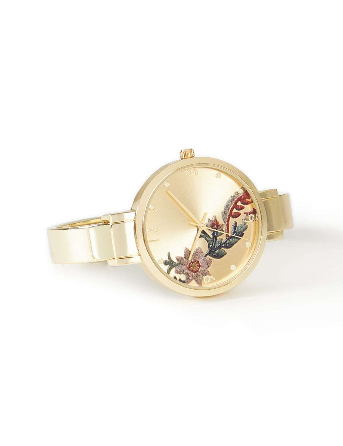 Golden Glow Floral Watch...