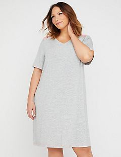 Pin Dot Sleepshirt with Lace
