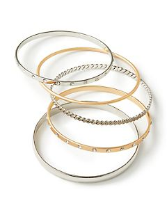5-Row Bangle Bracelet Set