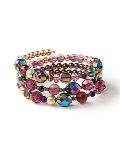 Imperial Purple Coil Bracelet