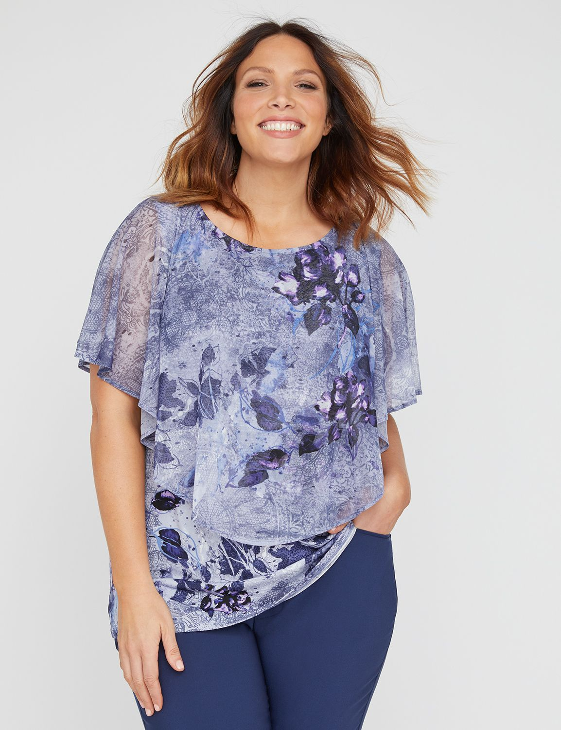 Lavender Meadow Top with...