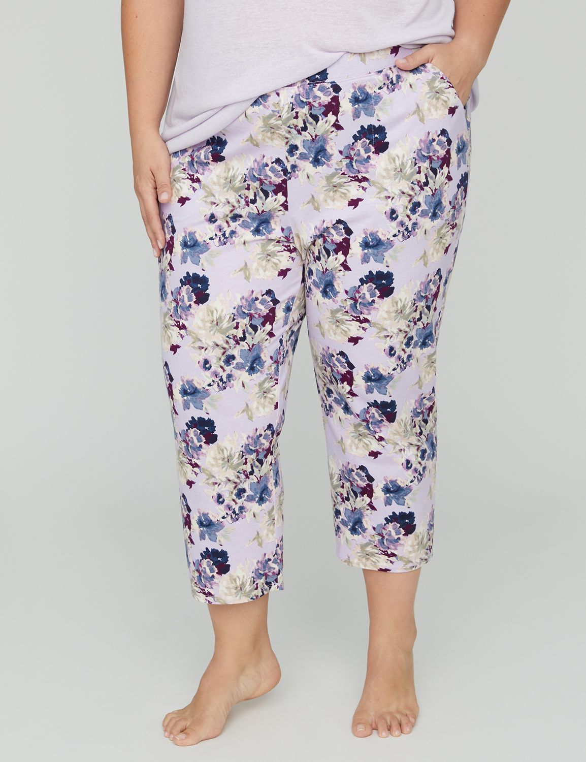 "This super-soft sleep capri brings ultimate relaxation thanks to the peaceful print. Enclosed elastic waist for easy pull-on styling. Pockets. Complete your look with our Orchid Dream Sleep Shirt. Item Number #314965, 100% Cotton, Machine Wash, Imported Plus Size Sleepwear, Inseam: 21"" , Plus Sizes 0X-5X, Catherines Plus Sizes"