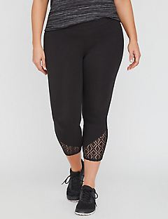 Legging Capri with Lace Hem