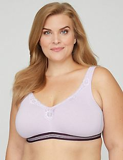 No-wire Cotton Bra with Lace