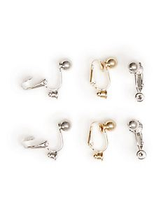 Clip-On Earring Converters (Pack of 3)