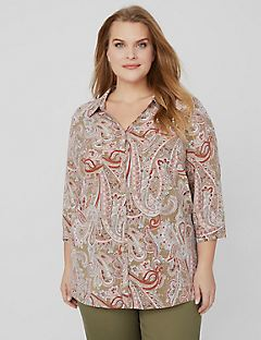 Weekend Paisley Buttonfront Shirt