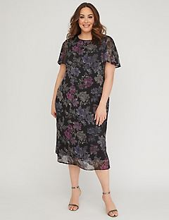 Open Meadows A-Line Midi Dress