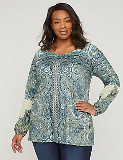 Shaded Cove Paisley Top