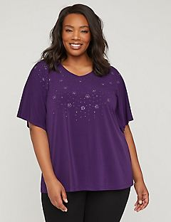 Vivid Purple Shimmer Top