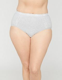 Cotton Full Brief Panty With Lace