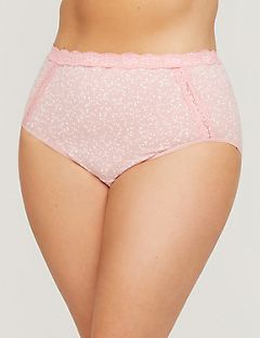 Cotton Full Brief With Lace