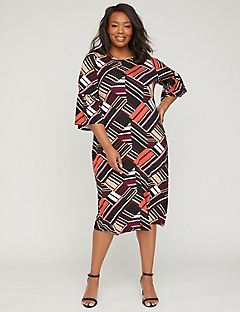 Purely Free Shift Midi Dress