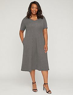 Shoreline Fit & Flare Scuba Dress