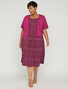 Autumn Breeze Jacket Dress  sc 1 st  Catherines & Plus Size Dresses u0026 Gowns Sizes 0X-5X | Catherines