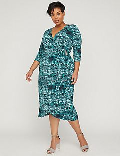 Curvy Collection Wrap Dress