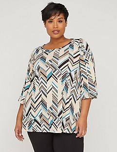 AnyWear Total Ease Pleated Top