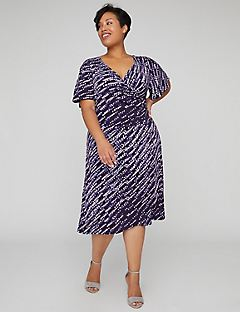 Moonlight Wrap Midi Dress