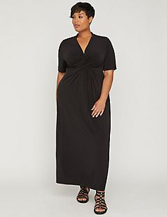 AnyWear Draped Maxi Dress