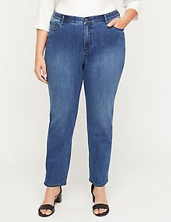 Straight Leg Jean with Secret Slimmer®