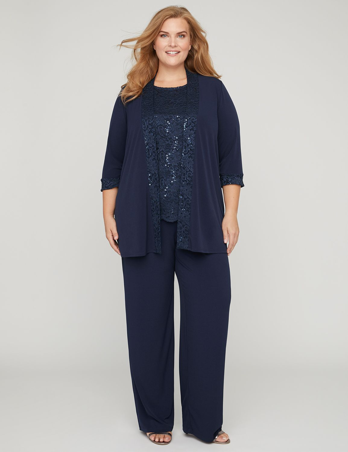 3-Piece Lace Gala Pant Suit