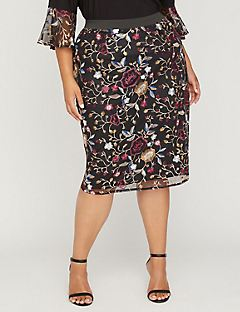 Black Label Garden Vale Pencil Skirt