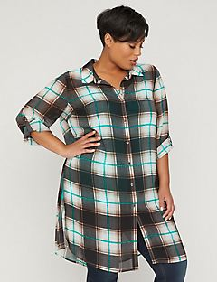 Ocean Front Plaid Duster