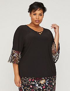 Black Label Garden Vale Flutter Top