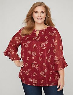 Scarlet Waterfall Blouse