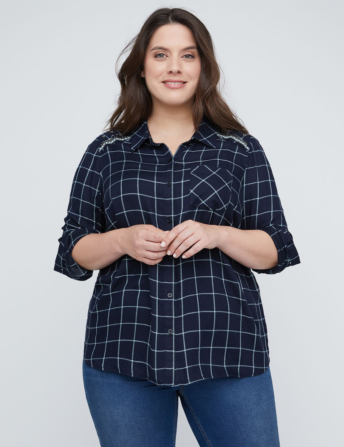 French Creek Plaid Buttonfront...