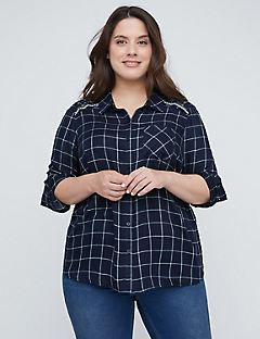 French Creek Plaid Buttonfront