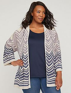 Lilac Wave Chevron Cardigan