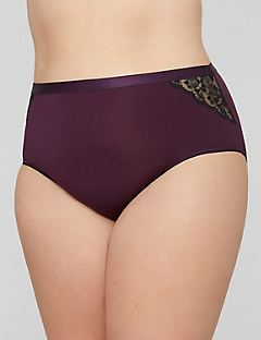 Full Brief Violet Panty with Lace