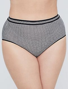 Striped Elastic Cotton Full Brief
