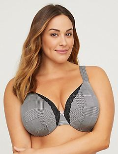 New! Houndstooth Full-Coverage Smooth Underwire Bra