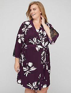 Floral & Lace Passion Robe