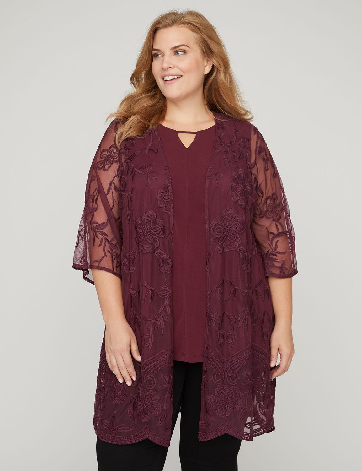 Camellia Lace Duster...