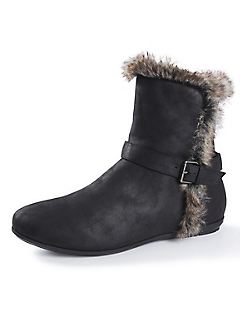 Good Soles Bootie with Faux Fur Trim