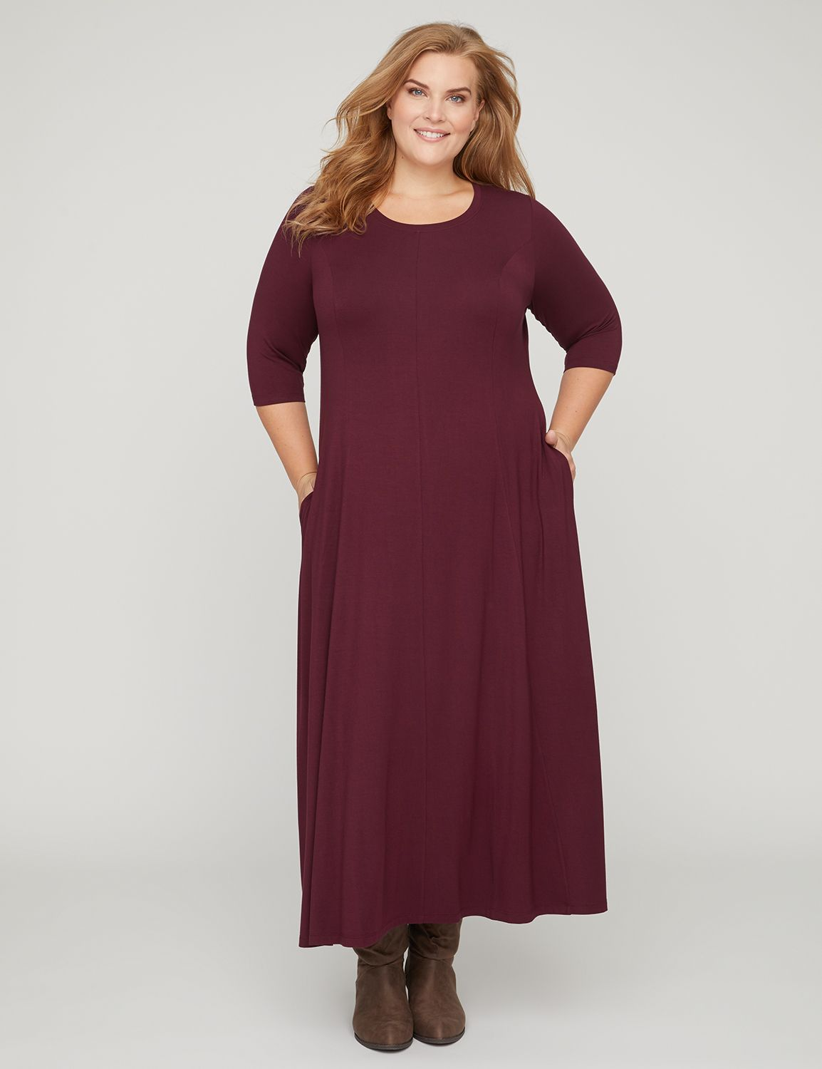Pure Ease Maxi Dress with Pockets 300129186