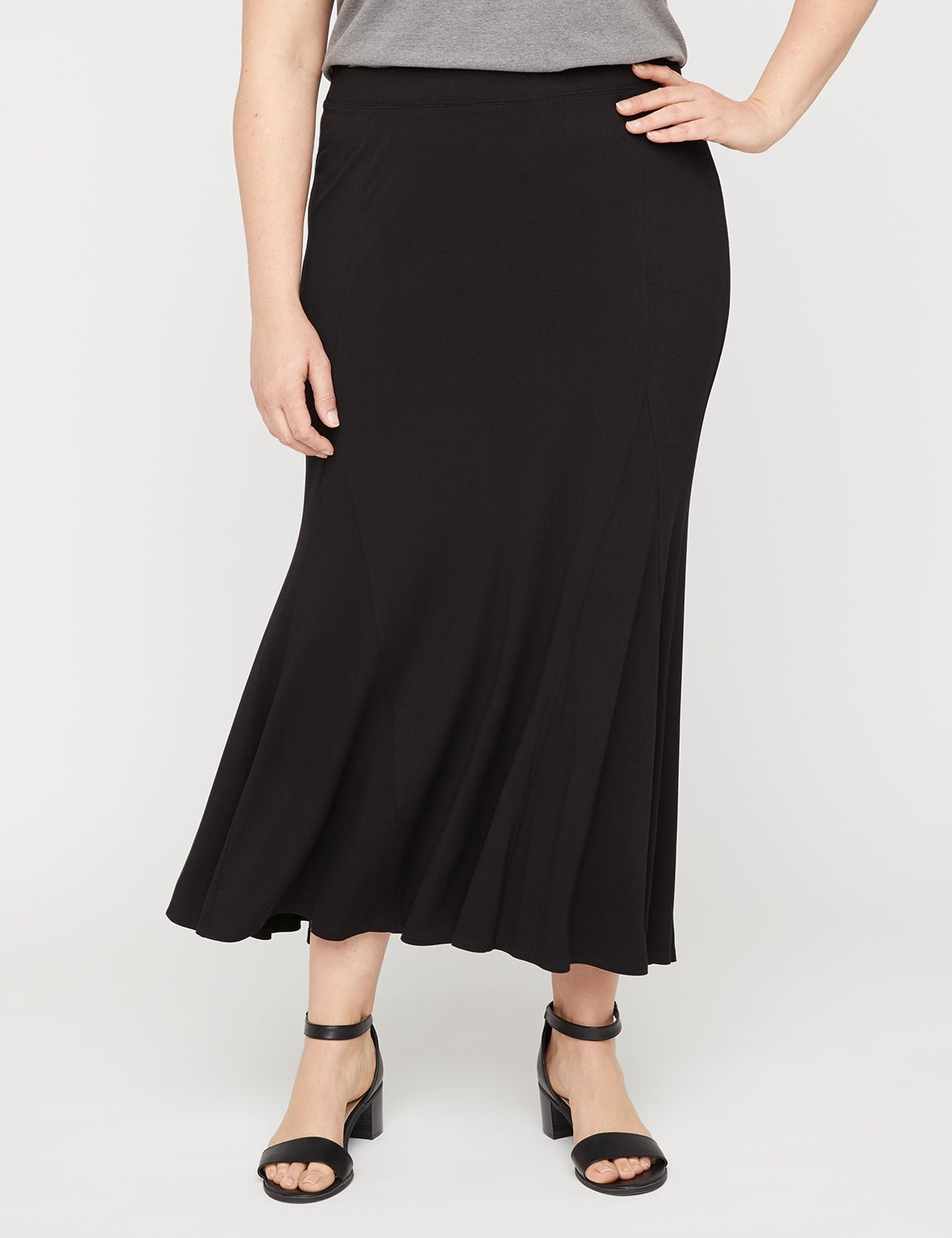 1930s Style Skirts : Midi Skirts, Tea Length, Pleated AnyWear Maxi Skirt $54.95 AT vintagedancer.com
