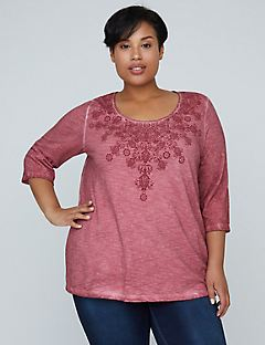 Floral Filigree Washed Tee