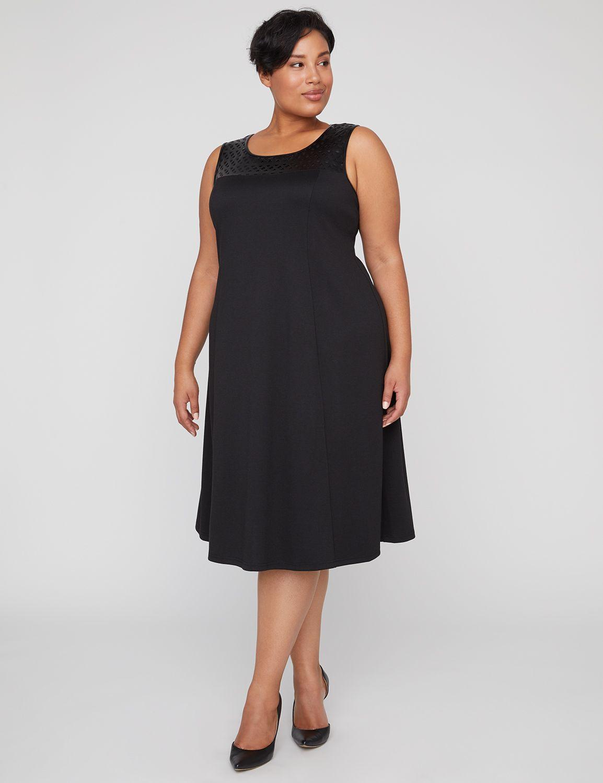 Black Label Cutwork Shift Midi Dress 300129728