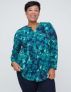 Jade Bloom Signature Crepe Popover