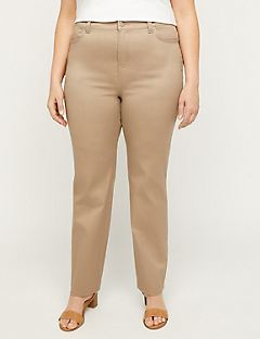 Sateen Stretch Pant With Side Elastic