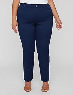 New Sateen Stretch Pant With Comfort Waist