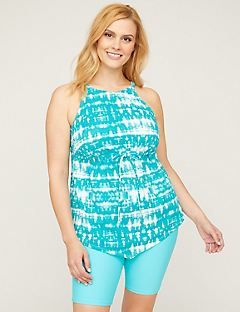 High-Neck Tankini Top