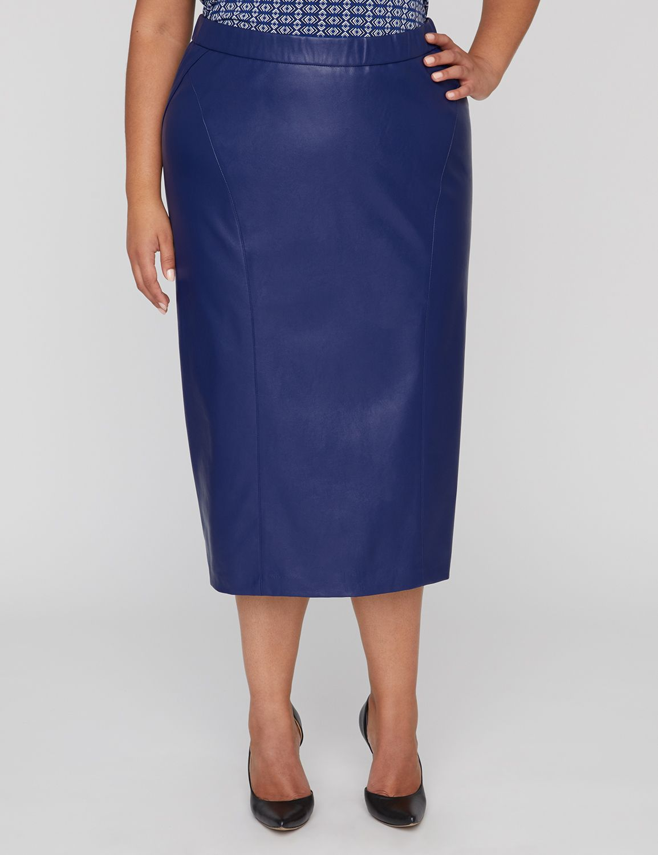 Black Label Vegan Leather Skirt 300130755