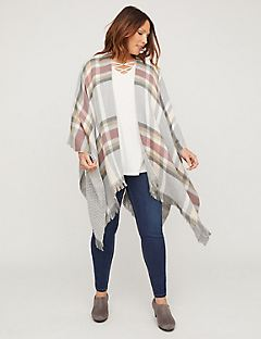 Greystone Plaid Ruana